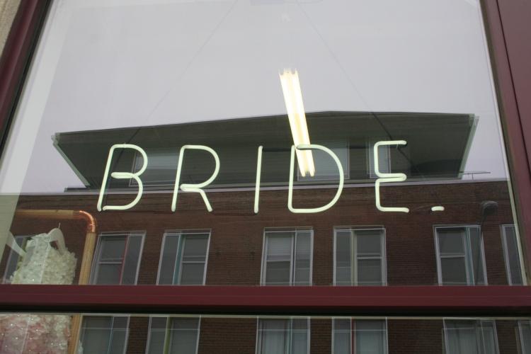 BRIDE. front door
