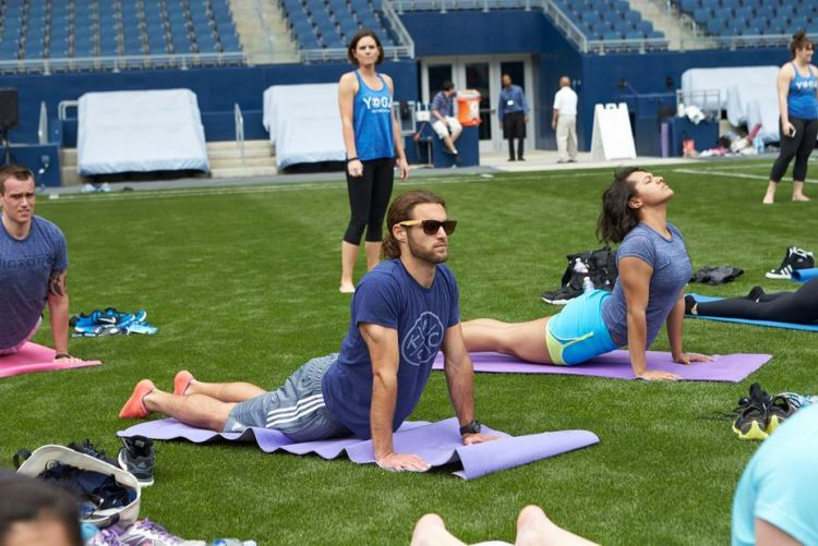 Yoga on the Pitch Graham Zusi
